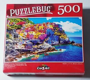 Cityscape Over Mediterranean Sea Puzzlebug 500 piece New 18.25 x 11  Free Shipp
