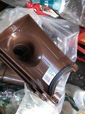 112mm Half Round Hunter BR011 Gutter Stop-end Outlet - Brown