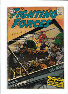 """OUR FIGHTING FORCES #26 [1957 NM-] """"TAG DAY!""""   DC COMICS"""