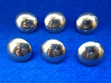 6 X 3RD/4TH/7TH/13TH/18TH HUSSARS 17MM PLAIN DOMED MILITARY GOLD TUNIC BUTTONS
