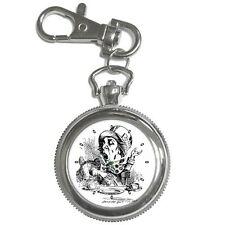 Mad Hatter Alice In Wonderland Key Ring Chain Keychain Watch
