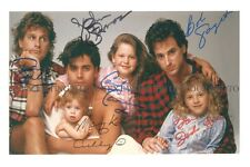 FULL HOUSE SIGNED AUTOGRAPHED CAST 6X9 RP PHOTO STAMOS OLSEN TWINS SAGET