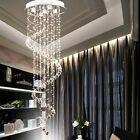 moderne goutte de pluie lustre spirale pendentif cristal lampe eclairage