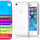 New Gel Silicone Back Case Cover for Apple iPhone 4s 5s FREE Screen Protector