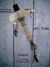 Indianer Tomahawk Kriegsbeil echter Knochen / dc TOM