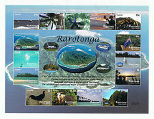 Rarotonga – Marine Life, Animals, Flora, Planes, Ships Tourism Numbered Sheetlet