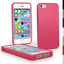 Pink Glossy TPU Case for Apple iPhone 5 5S SE Mobile Phone 4G LTE Skin Cover