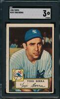 1952 Topps Set Break # 191 Yogi Berra SGC 3 Not PSA *OBGcards*