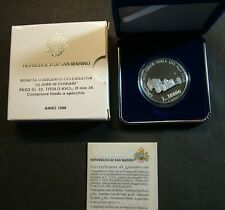 1998  San Marino Lire 10000 50 th   FERRARI   Proof Original Box Coa