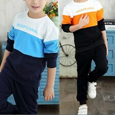 Child Girl Boy Baby Hoodie Sweatshirt Pullover Top+Pant Set Clothes Outfits 2PC