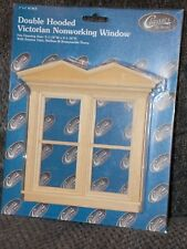Dollhouse Miniature Double Victorian Window Non Working 1:12 one inch scale  M2