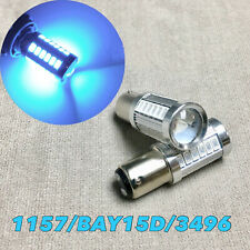 Front Turn Signal Light 1157 2057 3496 7528 33 SMD BAY15D Ice Blue LED Bulb W1 J