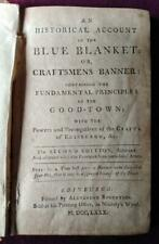 1780; Historical Account of the Blue Blanket (Edinburgh Craft Guilds) Pennecuik