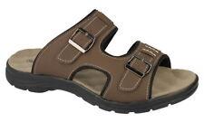 Scarpe da uomo sandali con cinturino marrone casual