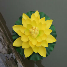 Artificial Fake Lotus Water Lily Floating Flower Garden Pool Plant Home Ornament