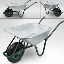BITUXX® Schubkarre 100L 250kg Schiebkarre Scheibtruhe Schubkarren für Bau Garten