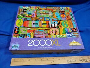 Mega Puzzles 2000 XL pc Antique Address House Numbers Art Paint Rustic Complete