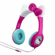 Hello Kitty Kid Friendly Headphones With Built in Volume Limiting Feature
