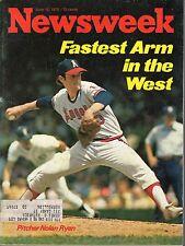 1975 6/16 Newsweek magazine baseball Nolan Ryan, California Angels  VG