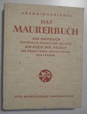 Das Maurerbuch ~~ Fachbuch für Geselle,Polier u.Meister für Praxis Architekten .