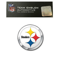 Promark New NFL Pittsburgh Steelers Color Aluminum 3-D Auto Emblem Sticker Decal