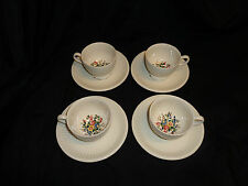 Vintage Wedgwood Conway Demitasse Tea Cups Saucers Lot Of 4 Sets Floral Roses