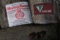 Harris Tweed Mallard Men's Taupe Donegal Sport Coat Jacket Blazer Size 44R