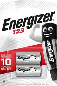 ENERGIZER CR123 CR123A 123 3V  PHOTO BATTERY LONGEST EXPIRY DATE