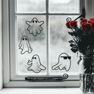 Halloween Sticker Ghosts Window Decal Spooky Ghost Kids Party Decorations
