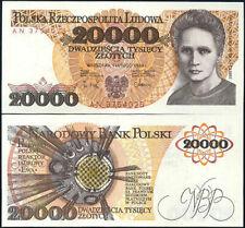 POLAND 20,000 20000 ZLOTYCH 1989 P 152 UNC