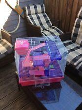Rosewood Pico Hamster Cage, Pink, pink/purple