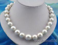 "Rare huge 18""16mm round white reborn keshi pearl necklace"