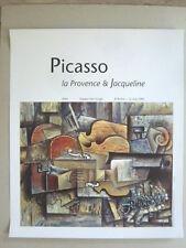 PICASSO Affiche originale 91 Nature morte Violon Raisin Arles Cubisme Provence