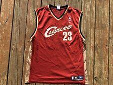 63e00bc45e4 Lebron James #23 Cleveland Cavaliers Swingman Reebok Red Jersey Mens XL  Print