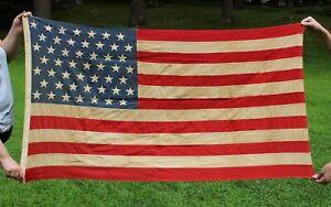 Vintage Old 1959 State of Alaska, 49 Star American Flag, NO RESERVE!