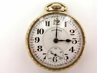 .* RARE 1920 ILLINOIS BUNN SPECIAL 48H MOTOR BARREL 16S 23J 10K RGP POCKET WATCH