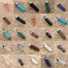 Natural Gemstones Hexagonal Pointed Reiki Chakra Healing Pendant Charms Beads