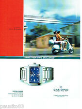 PUBLICITE ADVERTISING 056  2003  Festina France la montre Candino