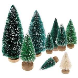 Mini Sisal Christmas Tree Pine Trees Ornament Miniature Snow Frost Tree Decor