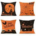 Halloween Pillow Covers 18 x 18 Inch Set of 4 Spirder Web Jack-O-Lantern Cushion