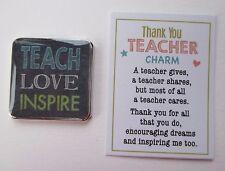 zzd Teach Love Inspire Thank You Teacher pocket token charm ganz