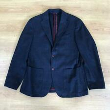 Corneliani Blue Red Check Wool Cashmere Two Button Blazer Jacket EU50 UK40