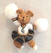 "Multicolor 4"" Colorado University CU Bear Cheerleader Ornament Figurine"