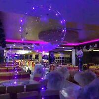 bulle de décoration conduit glow ballons transparent. lumineuse, gonflable
