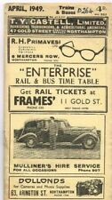 1949 NORTHAMPTON 'ENTERPRISE' BUS & RAIL TIMETABLE  WITH UNUSUAL TABULATED PAGES