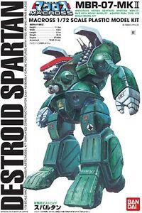 Bandai Macross 1/72 Scale Destroid Spartan MBR-07-MKII Plastic Model Kit