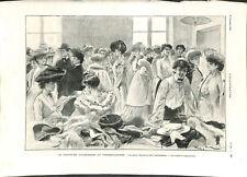 Paris concours d'admission au conservatoire de musique de Paris  GRAVURE 1903