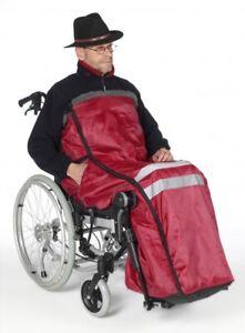 Rollstuhlsack, Fußsack, Schlupfsack gefüttert ! Rot