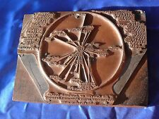 ANTIQUE Manchester in Mountains Vermont Center of Golf PRINTERS COPPER PLATE VG