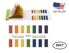 pH Indicator Test Strips 1-14 Laboratory Paper Litmus Tester Urine Saliva 80ct